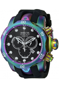 Men's Venom Analog Display Swiss Quartz Black Watch