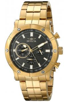 Men's Specialty Analog Display Japanese Quartz Gold Watch