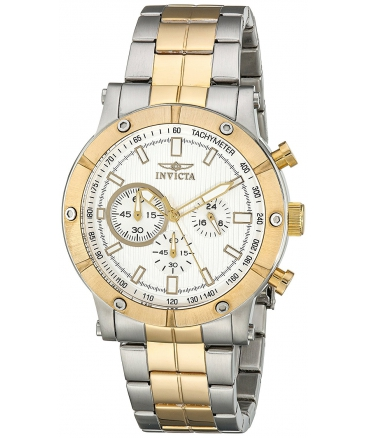 Men's Specialty Analog Display Japanese Quartz Two Tone Watch