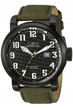 Men's Aviator Japanese Automatic Stainless Steel and Silicone Casual Watch