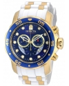 Pro Diver Chronograph Mother of Pearl White Polyurethane Mens Watch