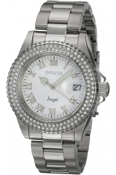 Women's Angel Quartz Stainless Steel and Leather Casual Watch