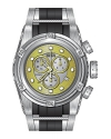 Invicta 21811 Men's Bolt Zeus Reserve Gold & Silver Dial Steel & Silicone Strap Chrono Dive Watch