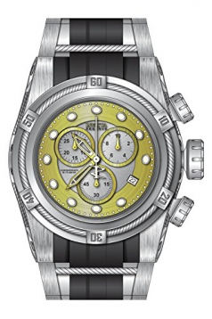 Invicta 21811 Men's Bolt Zeus Reserve Gold & Silver Dial Steel & Silicone Strap Chrono Dive Watch