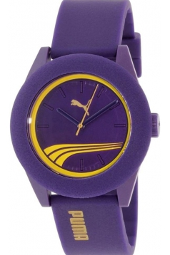 Men's Purple Rubber Quartz Watch