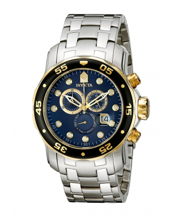 Men's Pro Diver Chronograph Blue Dial Stainless Steel Watch