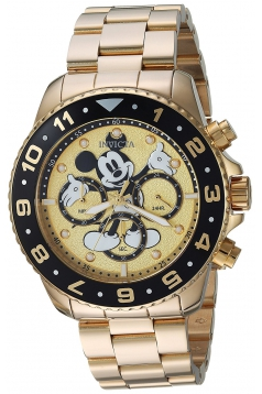 Men's Disney Limited Edition Quartz and Stainless Steel Casual Watch