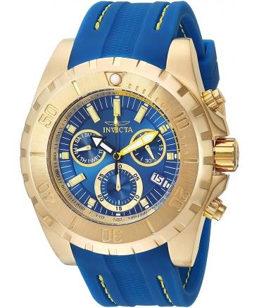 Men's Pro Diver Quartz Gold-Tone and Polyurethane Casual Watch