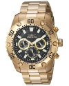 Invicta Men's 'Pro Diver' Quartz Stainless Steel Casual Watch, Color:Gold-Toned (Model: 24834)