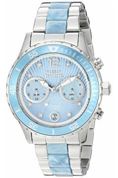 Invicta Women's 'Angel' Quartz Stainless Steel Casual Watch, Color:Two Tone (Model: 24704)