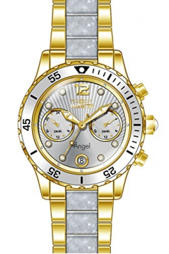 Invicta Women's 'Angel' Quartz Stainless Steel Casual Watch, Color:Two Tone (Model: 24702)
