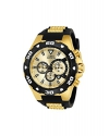 Invicta Men's 'Pro Diver' Quartz Stainless Steel and Polyurethane Casual Watch, Color:Two Tone (Model: 24682)