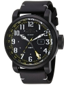 Men's Aviator Swiss Quartz Stainless Steel and Leather Casual Watch