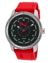 Men's Red Rubber Black Dial Watch
