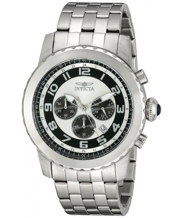 Men's Specialty Analog Display Japanese Quartz Silver Watch