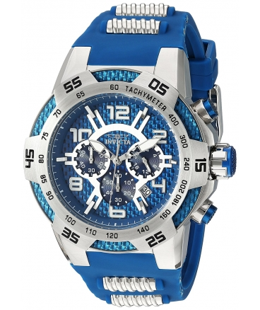 Men's Speedway Quartz Stainless Steel and Silicone Casual Watch