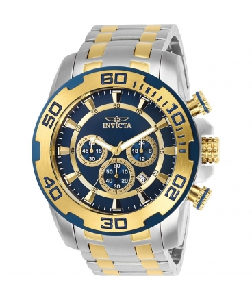 Men's Pro Diver Quartz Chronograph Blue Dial Watch