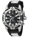 Men's Bolt Quartz Stainless Steel and Silicone Casual Watch