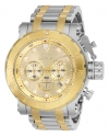 Men's Coalition Forces Quartz Chronograph Gold Dial Watch
