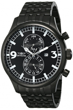 Men's II Collection Black Ion-Plated Stainless Steel Watch