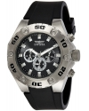 Mens Specialty Black Rubber Chronograph Watch