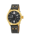 Men's 'I-Force' Quartz Stainless Steel and Leather Casual Watch