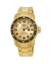 Men's Pro Diver Analog Display Japanese Quartz Gold Watch