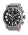 Men's Aviator Quartz 3 Hand Black Dial Watch