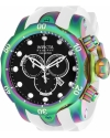 Reserve 52mm Venom Swiss Quartz Iridescent Case White Polyurethane Strap Watch