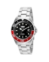 Men's Pro Diver Black Dial Stainless Steel Bracelet Quartz Dive Watch