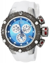 Men's 'Subaqua' Quartz Stainless Steel and Silicone Casual Watch