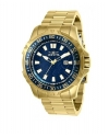 Men's 48mm Pro Diver Quartz Blue Web Dial 18K Gold Plated SS Watch