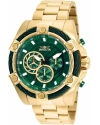 Bolt Men 52mm Stainless Steel Gold Green dial VD54 Quartz