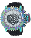 Men's 'Sea Hunter' Quartz Stainless Steel and Silicone Watch