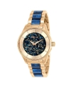 Women's Angel Blue Crystal & Rose Gold Dial Quartz Watch