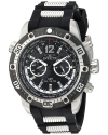 Men's 'Aviator' Quartz Stainless Steel and Silicone Casual Watch
