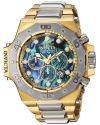 Men's 'Akula' Quartz Gold and Stainless Steel Casual Watch