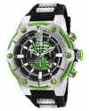 Men's Marvel Quartz Chronograph Green Dial Watch