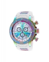 Men's 52mm Corduba Quartz Chronograph Mother-of-Pearl Iridescent Case Strap Watch