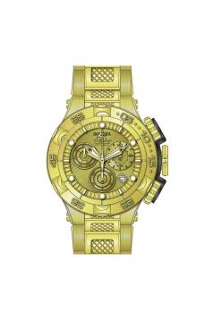 Men's Subaqua Quartz Chronograph Gold Dial Watch