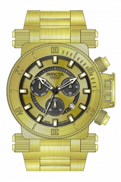 Coalition Forces Chronograph Gold Dial Mens Watch