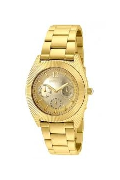 Women's Angel Quartz Chronograph Gold Dial Watch