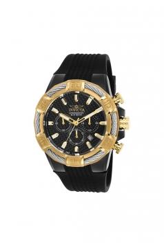 Men's Bolt Quartz Chronograph Black Dial Watch