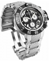 Men's Subaqua Quartz Chronograph Silver, Black Dial Watch