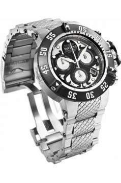 Men's Subaqua Quartz Chronograph Silver, Black Dial Watch