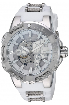 Men's 'Star Wars' Automatic Stainless Steel and Silicone Watch