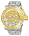 Men's Coalition Forces Automatic 3 Hand Silver, Gold Dial Watch