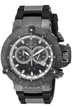 Men's Subaqua Sport Black Ion-Plated Chronograph Watch