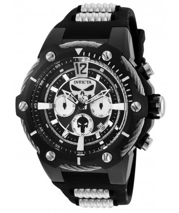 Men's Marvel Quartz Chronograph Black Dial Watch