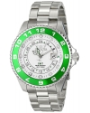Men's Pro Diver Analog Display Swiss Quartz Silver Watch